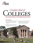 Complete Book of Colleges  2007 Edition