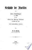Geschichte der Juden von den ältesten Zeiten bis auf die Gegenwart