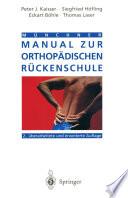 Münchner Manual zur orthopädischen Rückenschule