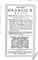 Anno Regni Georgii II      Vicesimo Sexto  At the Parliament Begun and Holden at Westminster  the Tenth Day of November  Anno Dom  1747      Continued     to the Eleventh Day of January  1753