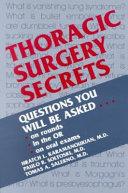 Thoracic Surgery Secrets Book