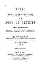 Pdf Notes, Critical and Practical, on the Book of Genesis