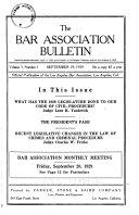 The Bar Association Bulletin