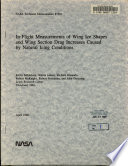 In flight Measurements of Wing Ice Shapes and Wing Section Drag Increases Caused by Natural Icing Conditions Book
