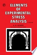 Elements of Experimental Stress Analysis Book