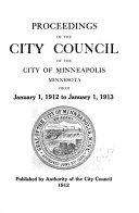 Proceedings of the City Council of the City of Minneapolis  Minnesota from Book
