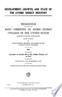 Development  Growth  and State of the Atomic Energy Industry Book