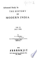 Advanced study in the history of modern India, 1813-1920