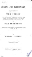 Origins and Inventions Book PDF