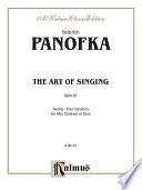 The Art Of Singing 24 Vocalises Op 81 Book