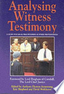 Analysing Witness Testimony