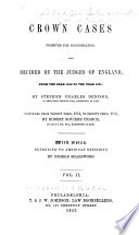 1850 to 1851  by S  C  Denison     continued from Trinity term  1851  to Trinity term  1852  by R  R  Pearce