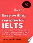 Ranjot's Easy writing samples for IELTS 2021