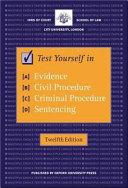 Test Yourself in Evidence  Civil Procedure  Criminal Procedure  Sentencing