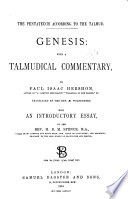 The Pentateuch According to the Talmud