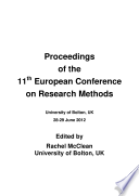 Proceedings of the 11th European Conference on Research Methods
