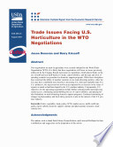 Trade issues facing U.S. horticulture in the WTO negotiations