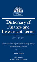 Dictionary of Finance and Investment Terms Book