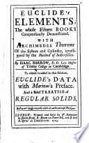 Euclide's Elements