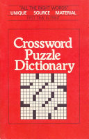 Pdf Crossword Puzzle Dictionary Telecharger
