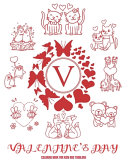 Valentine s Day Coloring Book for Kids and Toddlers