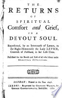 The Returns of Spiritual Comfort and Grief  in a Devout Soul