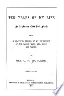 Ten Years of My Life in the Service of the Book Fund ...