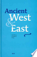 Ancient West   East   Volume 3 Volume 3  No 2