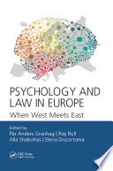 Psychology and Law in Europe Book