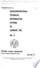 Non-conventional Technical Information Systems in Current Use