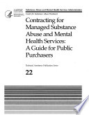 Contracting For Managed Substance Abuse And Mental Health Services