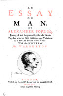 An essay on man  In four epistles