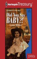 Did You Say Baby?! Pdf/ePub eBook