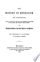 The History of Methodism in Canada
