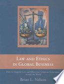Law and Ethics in Global Business Book