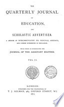The Quarterly Journal Of Education And Scholastic Advertiser