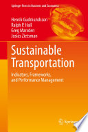 Sustainable Transportation Book PDF
