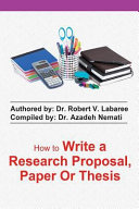 How to Write a Research Proposal  Paper Or Thesis