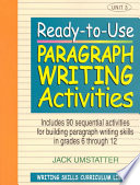 Ready-to-Use Paragraph Writing Activities