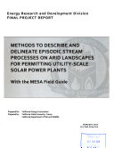Methods to Describe and Delineate Episodic Stream Processes on Arid Landscapes for Permitting Utility-scale Solar Power Plants
