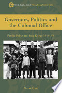 Governors Politics And The Colonial Office