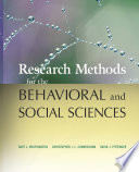 Research Methods for the Behavioral and Social Sciences Book PDF