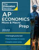 Princeton Review AP Economics Micro and Macro Prep 2022 Book