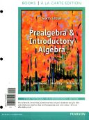 Prealgebra and Introductory Algebra + Mymathlab With Pearson Etext Access Card
