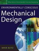 Environmentally Conscious Mechanical Design Book