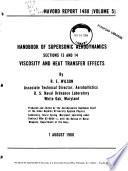 Handbook of Supersonic Aerodynamics