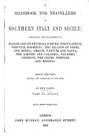 A Handbook for Travellers in Southern Italy and Sicily  Sicily
