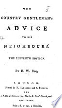 The Country Gentleman S Advice To His Neighbours