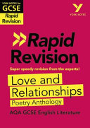 York Notes for AQA GCSE 9 1 Rapid Revision  Love and Relationships Poetry Anthology   Refresh  Revise and Catch Up