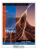 Fundamentals of Physics Extended 8th Edition for New Jersey Institute of Technology Book